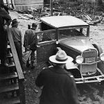 WP00066: RCMP guarding the transaction of the first gold brick from the Cariboo Gold Quartz, ca. 1933