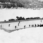 WP00854: The hockey rink on the Jack O' Clubs Lake ca. 1930s.