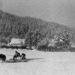 WP00899: A wood sleigh ca. 1930s.