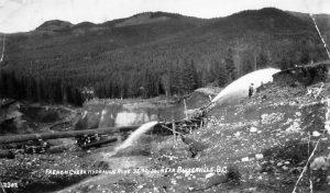 WP01035A: French Creek hydraulic mine ca. 1936.